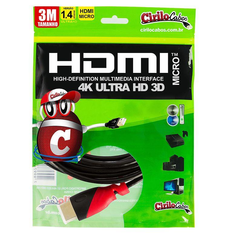 7258-Cabo-MICRO-HDMI-para-HDMI-1.4-Ultra-HD-3D-3-metros-Cirilo-Cabos-1