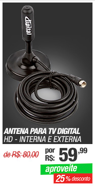 Antena para TV Digital HD