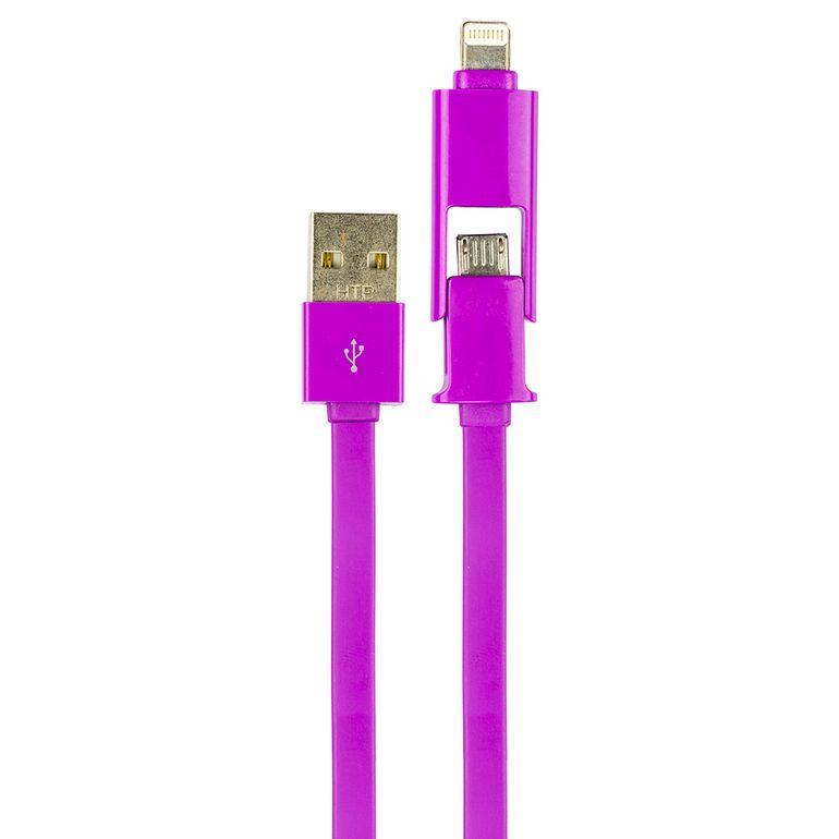 Cabo-de-Dados-2x1-Lightning-e-Micro-USB-iPhone-e-Galaxy-Crilocabos-Lilas-1