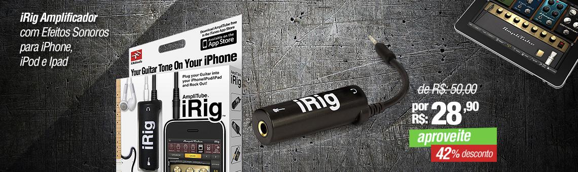 iRig Amplificador com Efeitos Sonoros para iPhone, iPode Ipad