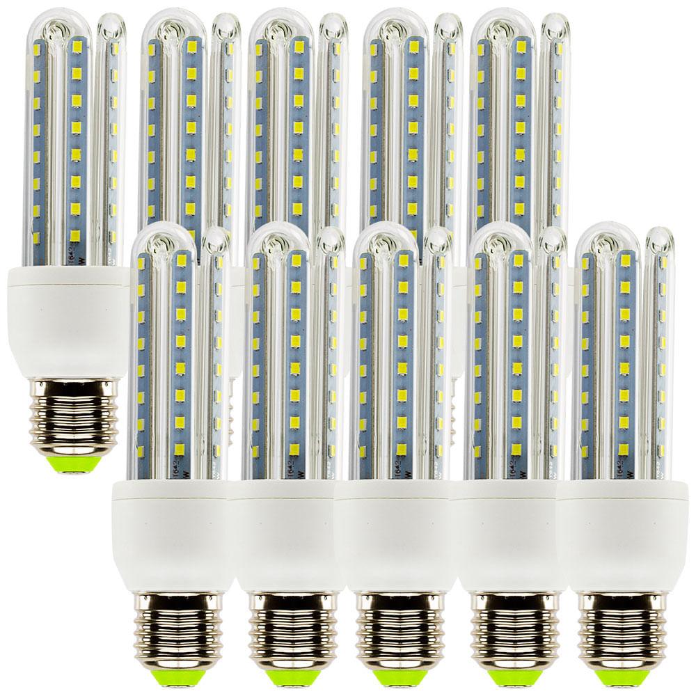 Kit com 10 l mpadas led super econ mica e27 9w 6000k for Lampada led