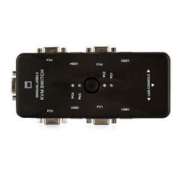 7497-Switch-KVM-USB-4-Portas-VGA-KVM41UA-USB-2-Cirilo-Cabos-4