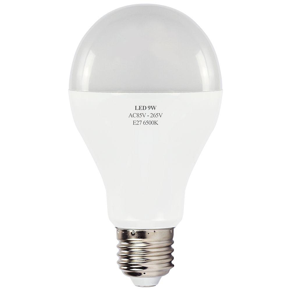 L mpada led bulbo alum nio 9w e27 6500k bivolt branco for Lampada led