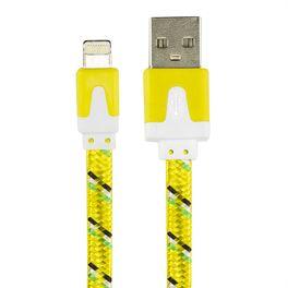 cabo-flat-usb-carregador-e-dados-para-iphone-5-ipad-ipod-amarelo