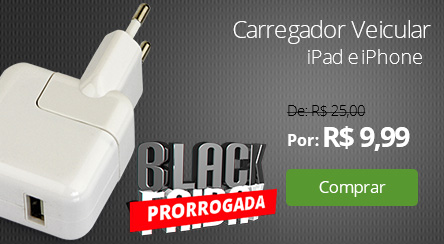 Carregador Veicular iPad e iPhone Branco