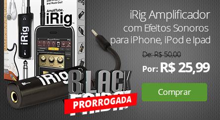 iRig Amplificador com Efeitos Sonoros para iPhone, iPod e Ipad