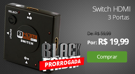 Switch HDMI 3 Portas