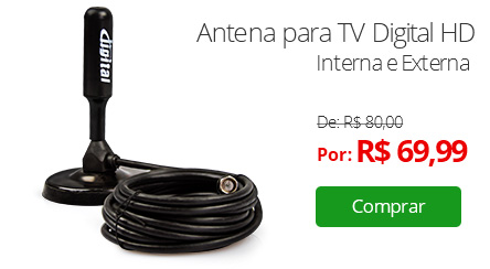 Antena para TV Digital HD - Interna e Externa