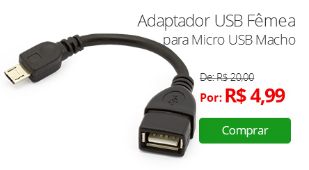 Adaptador USB Fêmea para Micro USB Macho