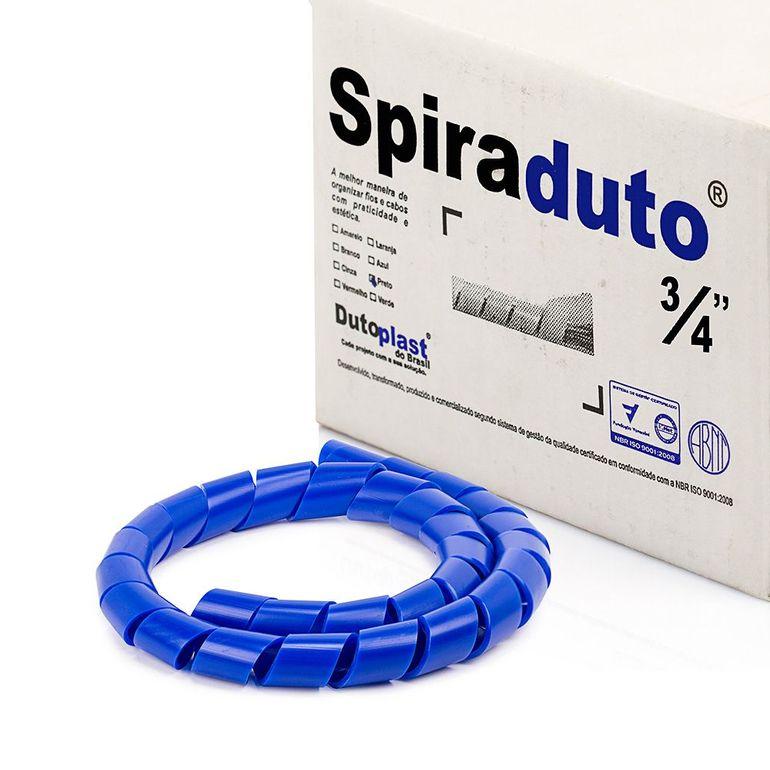8366-01-Spiraduto-3-4-Organizador-de-Cabos-Dutoplast-Azul-CiriloCabos