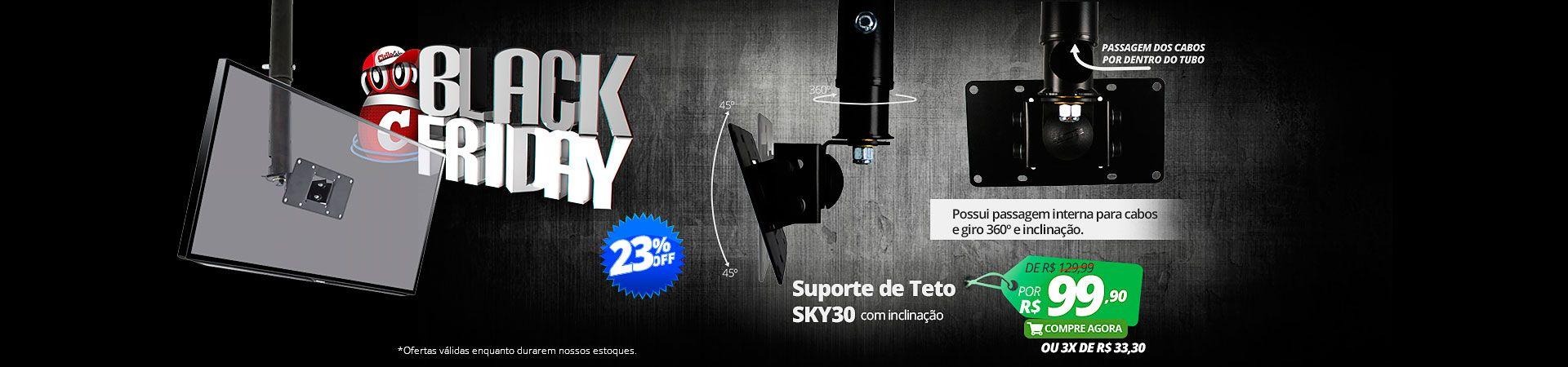 SUPORTE DE TETO SKY30 - COM INCLINAÇÃO
