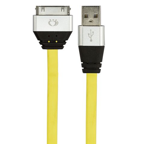 7982-01-cabo-usb-30-pinos-de-silicone-carregador-e-dados-para-iphone-4-amarelo-cirilocabos