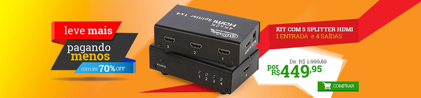 256712 - SPLITTER HDMI - 1 ENTRADA 4 SAÍDAS