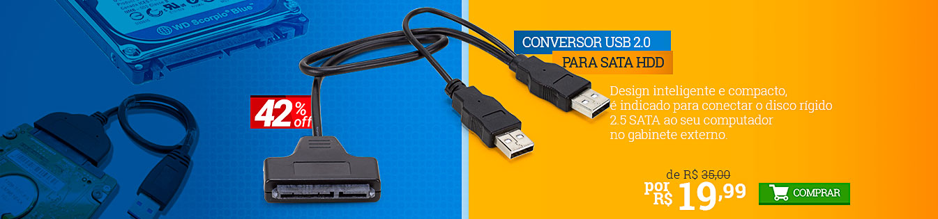 289499 - CONVERSOR USB 2.0 PARA SATA HDD