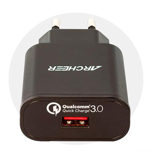 Carregador Turbo Qualcomm Quick Charge 3.0
