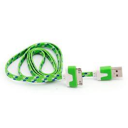 7138-Cabo-USB-Flat-30-Pinos-para-iPhone-4-iPad-iPod-Verde-Cirilo-Cabos