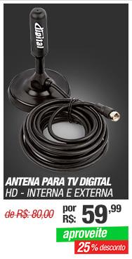 Antena para TV Digital HD