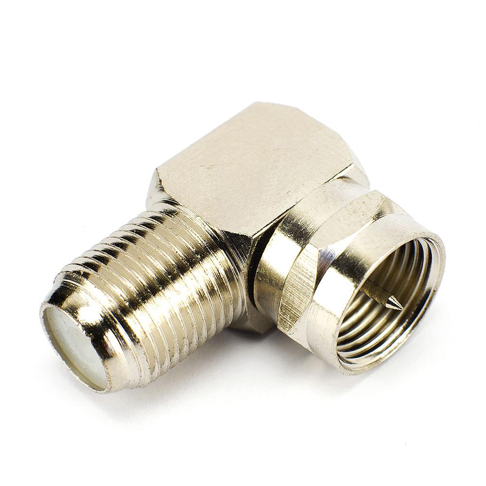 Conector Coaxial para Fêmea Coaxial - 90 Graus - cirilocabos
