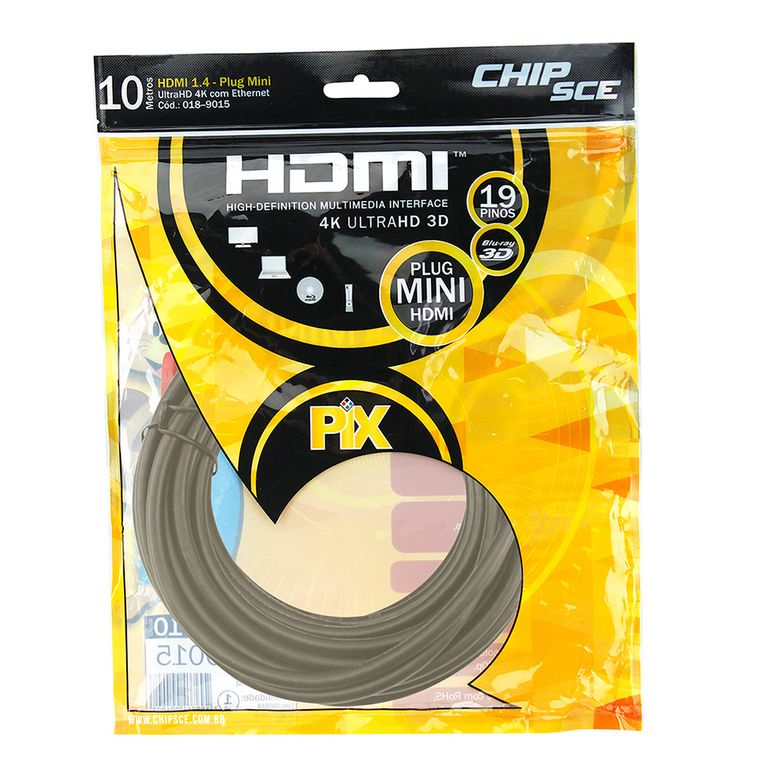 189015-Cabo-HDMI-Plug-Mini-HDMI-19-Pinos-3D-10-metros-ChipSce