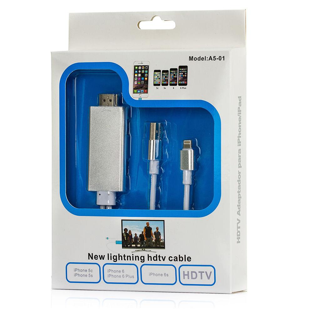 a7b132f38f2 Cabo Lightning HDTV Adaptador HDMI para iPhone - cirilocabos