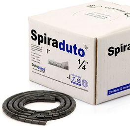 8357-01-Spiraduto-1-4-Organizador-de-Cabos-Dutoplast-Preto-CiriloCabos