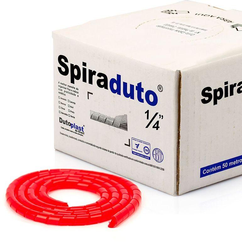 8360-01-Spiraduto-1-4-Organizador-de-Cabos-Dutoplast-Vermelho-CiriloCabos