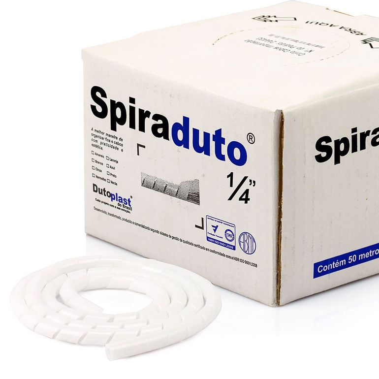 8358-01-Spiraduto-1-4-Organizador-de-Cabos-Dutoplast-Branco-CiriloCabos