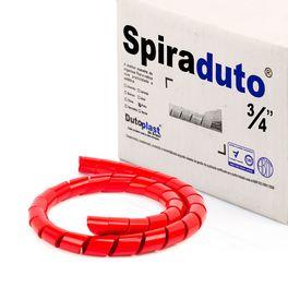 8367-01-Spiraduto-3-4-Organizador-de-Cabos-Dutoplast-Vermelho-CiriloCabos