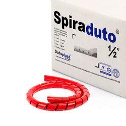 8374-01-Spiraduto-1-2-Organizador-de-Cabos-Dutoplast-Vermelho-CiriloCabos
