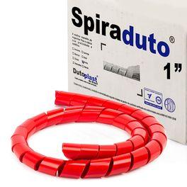 8381-Spiraduto-de-1--Organizador-de-Cabos-Dutoplast-Vermelho-CiriloCabos