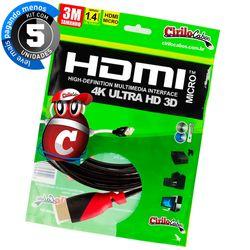 7258-05-kit-cabos-micro-hdmi-para-hdmi-ultra-hd-3d-3metros-cirilocabos