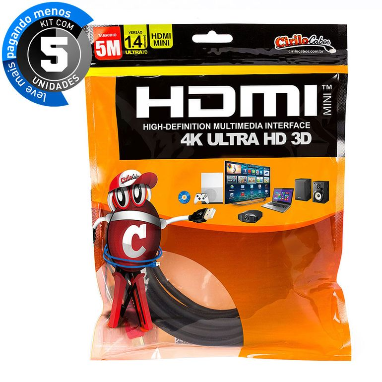 7255-kit-05-cabo-mini-hdmi-para-hdmi-1-4-ultra-hd-3d-5-metros-cirilo-cabos