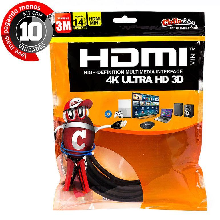 7254-kit-10-cabo-mini-hdmi-para-hdmi-1-4-ultra-hd-3d-3-metros-cirilo-cabos