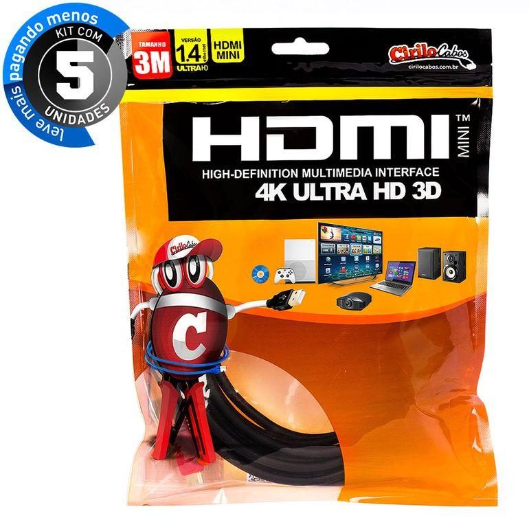7254-kit-05-cabo-mini-hdmi-para-hdmi-1-4-ultra-hd-3d-3-metros-cirilo-cabos