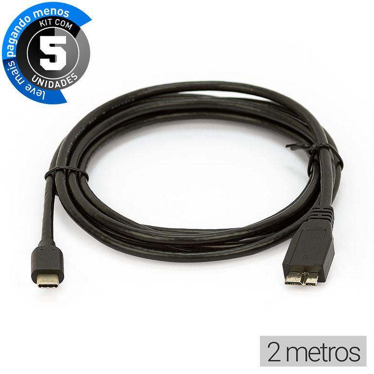 cabo-adaptador-usb-c-para-microusb-b-cirilocabos-0120002-kit-com-5-2m-1