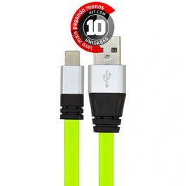 cabo-usb-de-silicone-carregador-e-dados-para-iphone-5-e-6-verde-cirilocabos-7972-kit-com-10-1