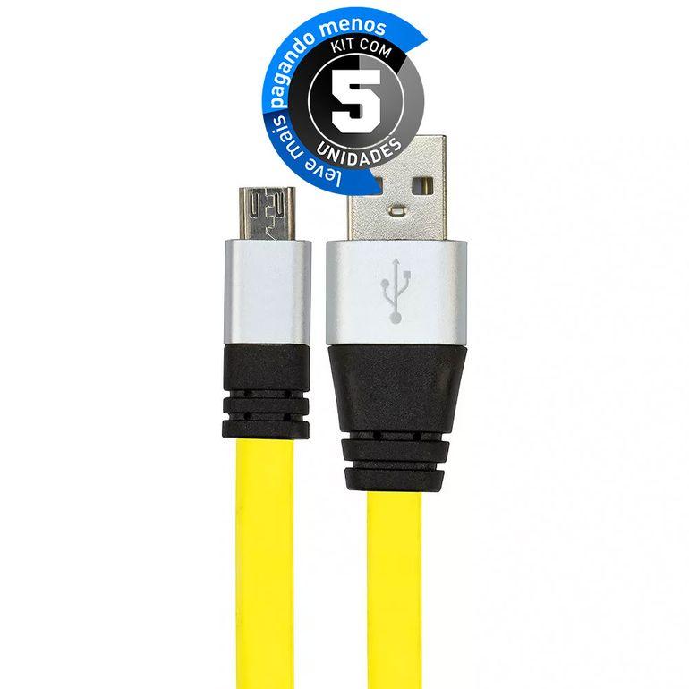 cabo-usb-de-silicone-carregador-e-dados-celular-micro-usb-amarelo-cirilocabos-7971-kit-com-05-1