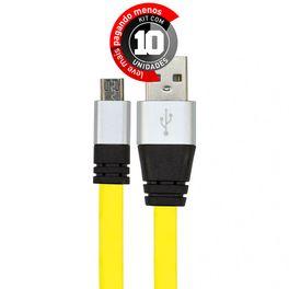 cabo-usb-de-silicone-carregador-e-dados-celular-micro-usb-amarelo-cirilocabos-7971-kit-com-10-1
