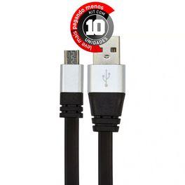 cabo-usb-de-silicone-carregador-e-dados-celular-micro-usb-preto-cirilocabos-7971-kit-com-10-1