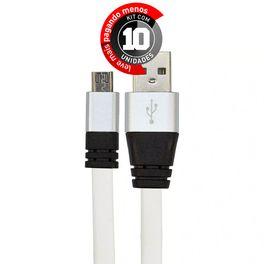 cabo-usb-de-silicone-carregador-e-dados-celular-micro-usb-branco-cirilocabos-7971-kit-com-10-1