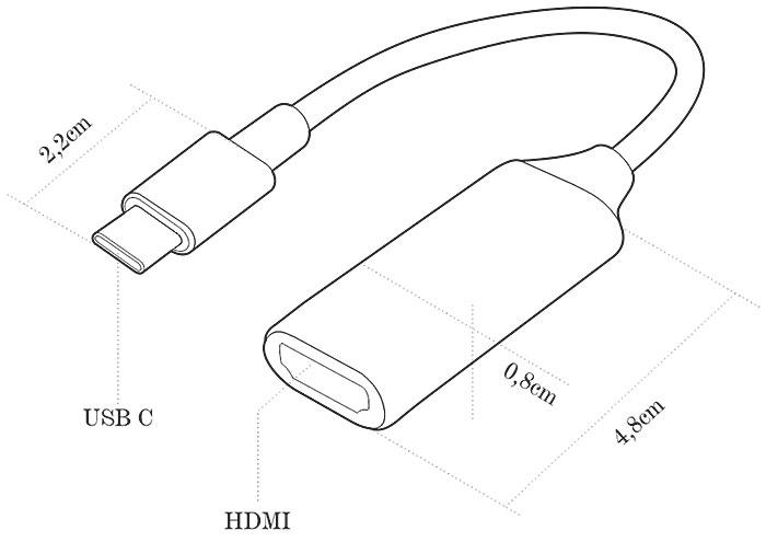 Adaptador USB Tipo C para HDMI 4k