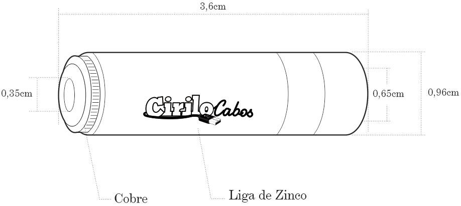 Conector P2 Fêmea Linha Gold - Cirilo Cabos