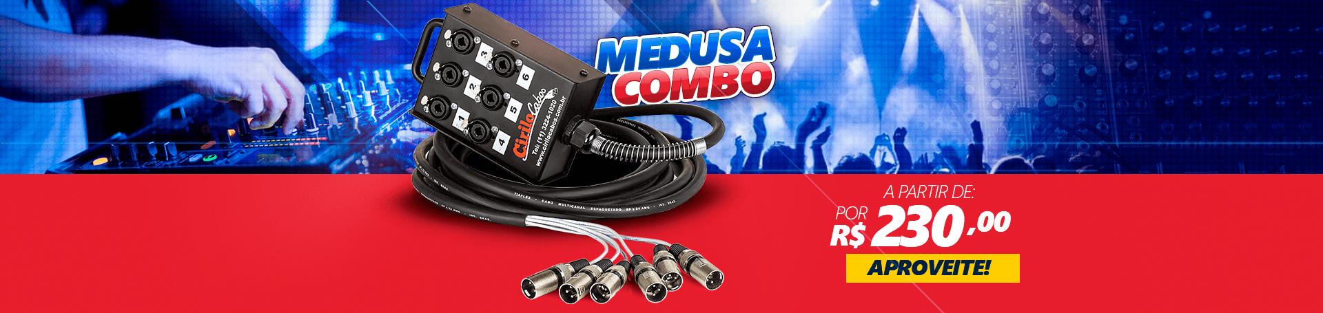 Medusa 6 Vias com Conectores Combo - Cirilo Cabos