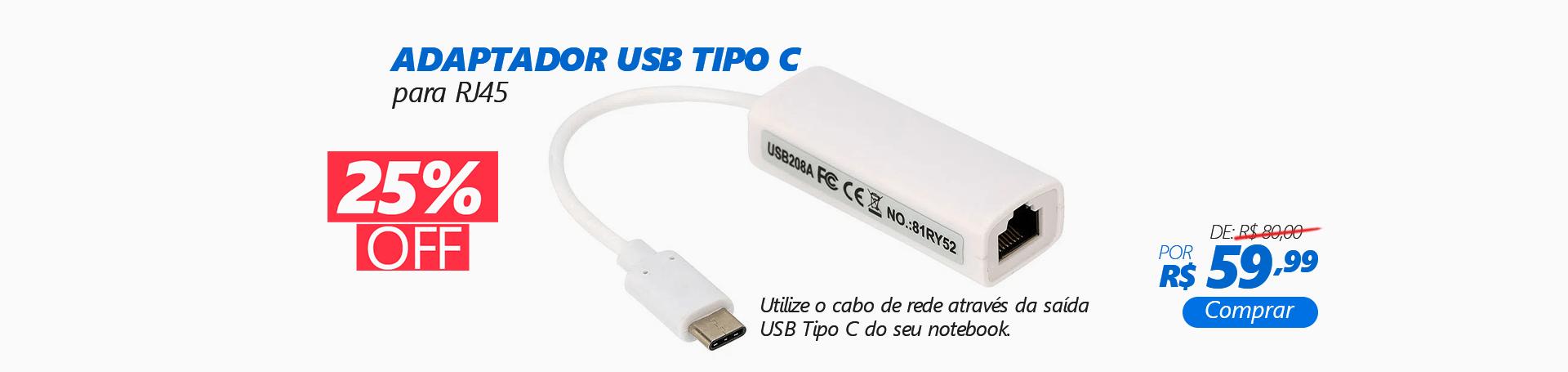 Adaptador USB-C para RJ45