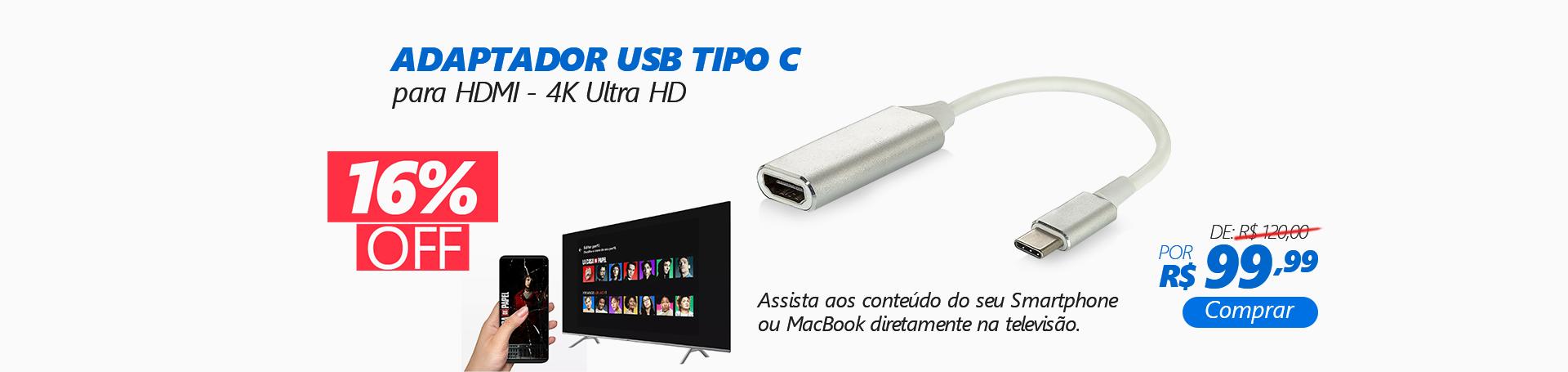 9534 - Adaptador USB Tipo C para HDMI 4k