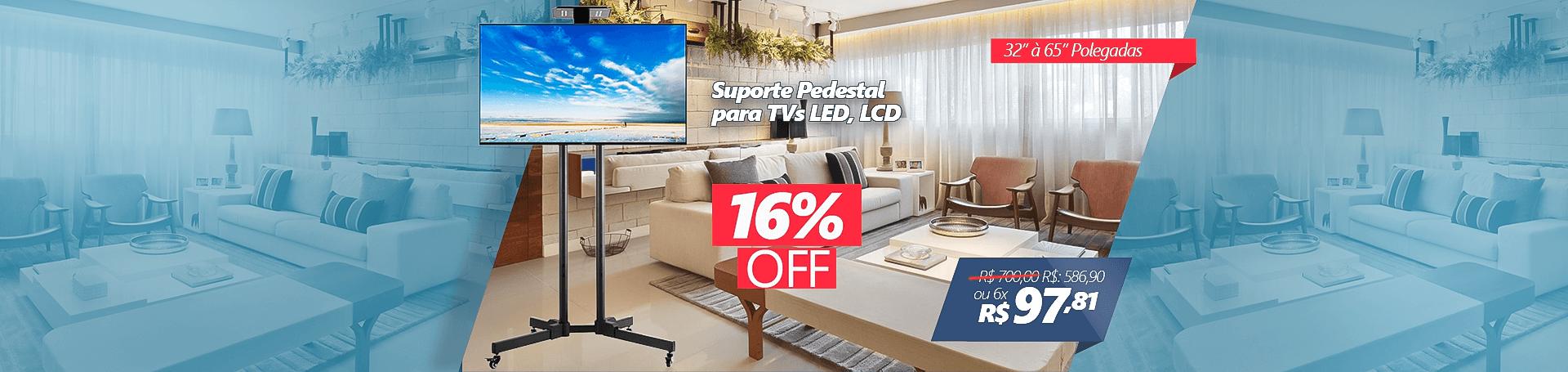 BANNER DESKTOP HOME -   Suporte Pedestal para TVs LED, LCD 32 a 65 Polegadas