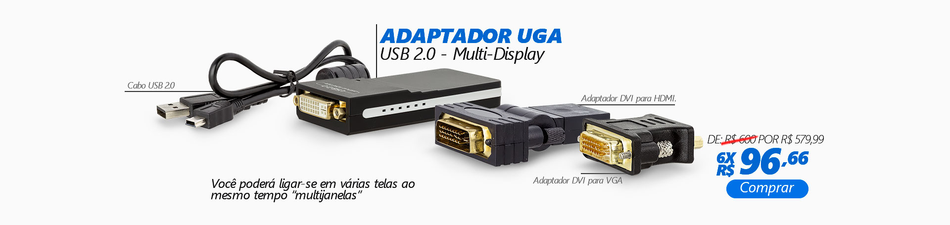 BANNER DESKTOP HOME - Adaptador USB 2.0 UGA Multi-Display