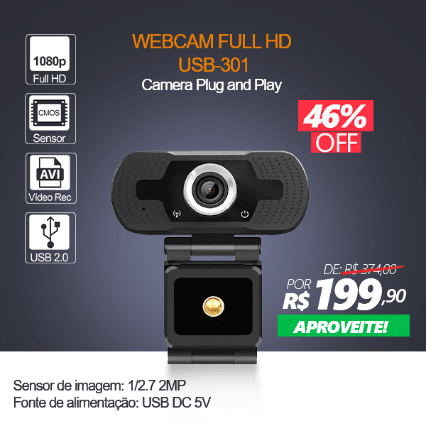 BANNER MOBILE PRINCIPAL - WebCam Full HD 1080p - USB-301