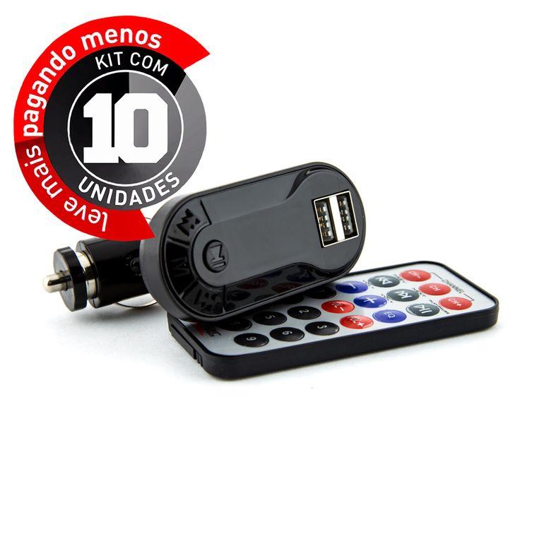 Transmissor-Wireless-Mp3-Mp4-E-Pen-Drive-Para-Carro-kit-com-10