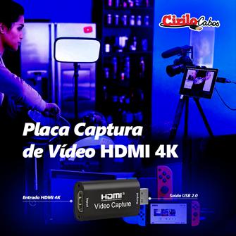 hdmi para usb 2-0 placa de captura de video mini 4 k 1080/p